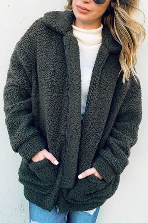 Eden Sherpa Oversized Teddy Coat Jacket