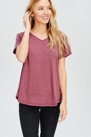 CHARLOTTE SHORT SLEEVE TOP W/ BACK CUT-OUTS