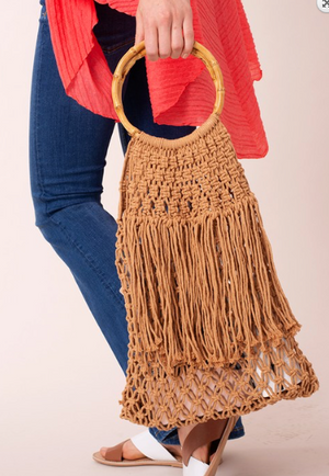 SKY BAMBOO HANDLE HOBO BAG