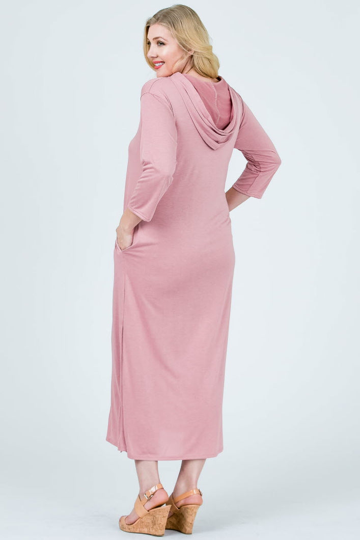 Anne Hooded L/Sleeve Maxi Dress
