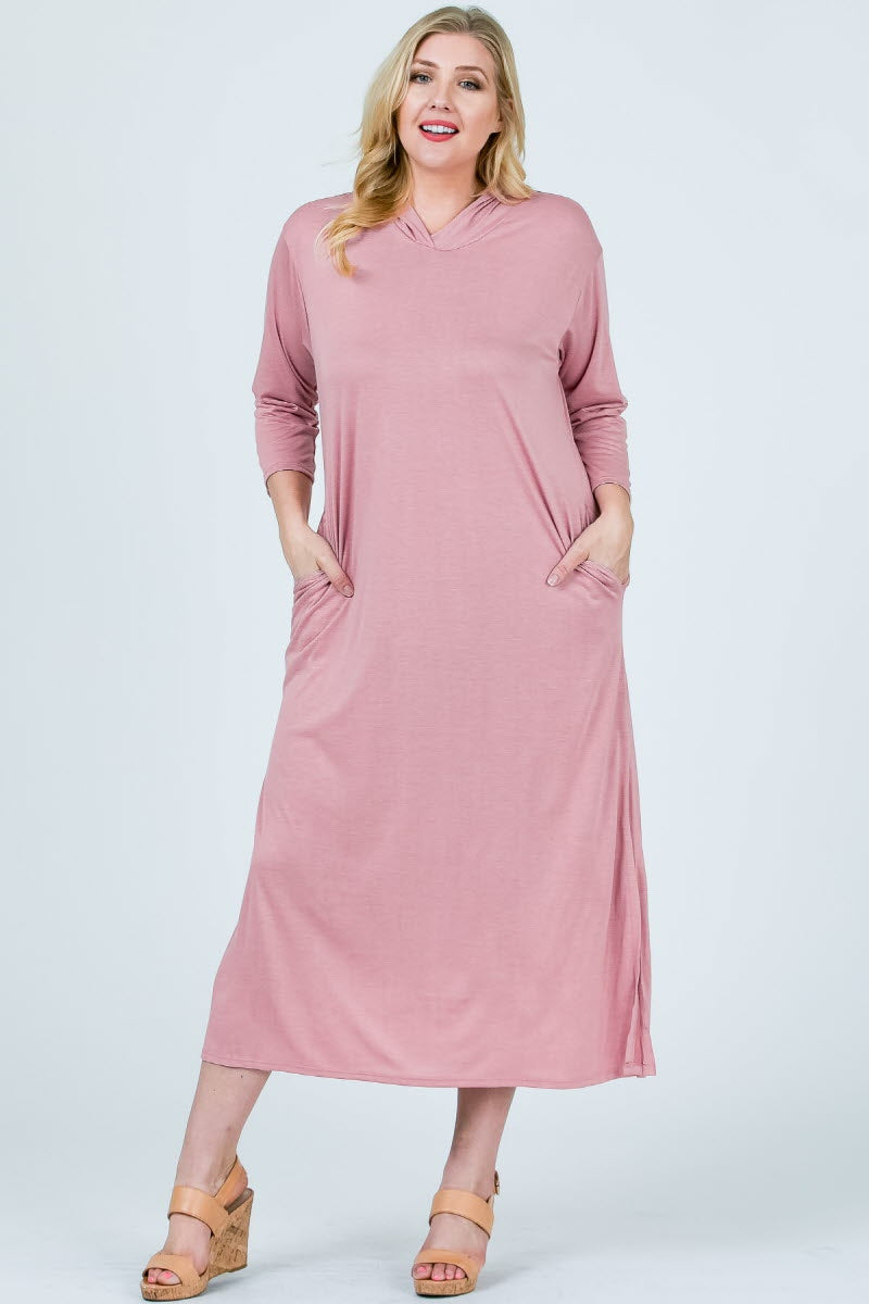 Anne Hooded Long Sleeve Maxi Dress
