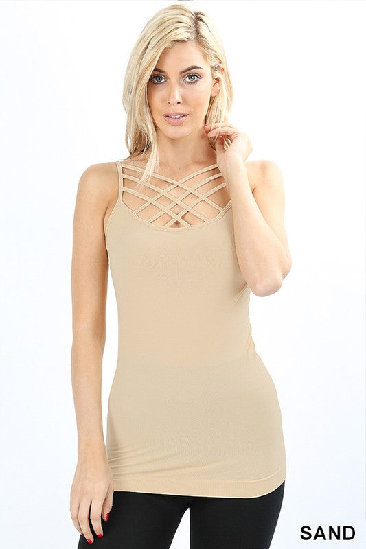 Triple Threat Criss-Cross Front Cami