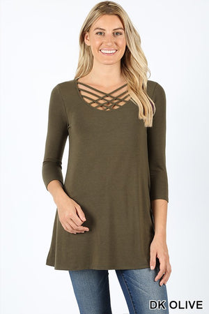 Jovie 3/4 Lattice Top