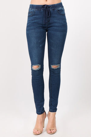Berlin Distressed Skinny Denim Jogger