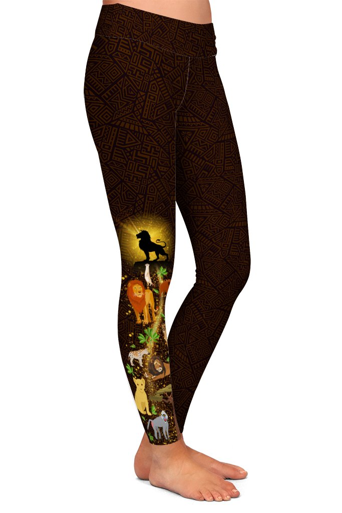 Just Can't Wait to be KING, Adult Lion King Inspired Leggings
