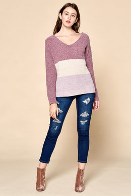 Bergen Color-Block Knit Top