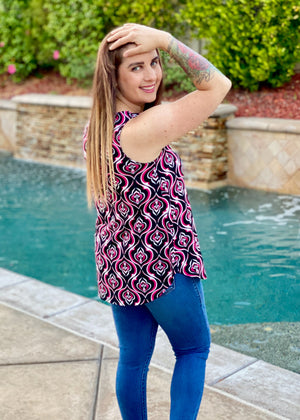 Rising Sun Damask Sleeveless Top