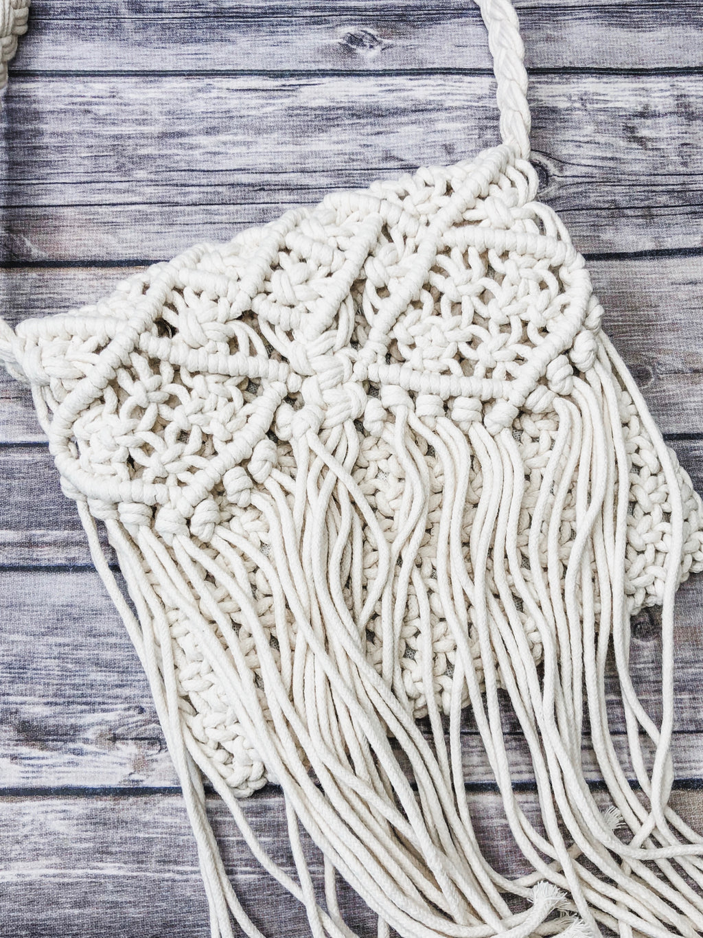 Crochet Fringe Cross Body