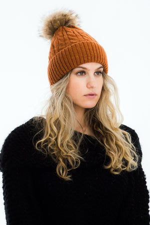 Luca Cable Knit Beanie