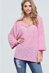 Mauve Madness Open V-Neck Top