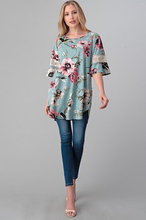 Garden Stroll Lace Accent Tunic