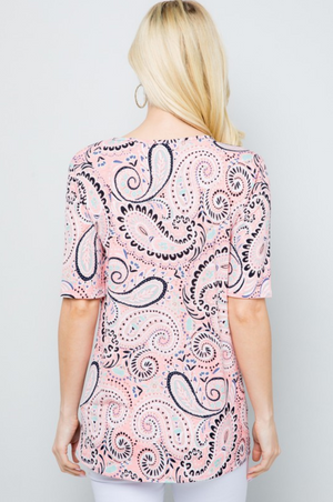 Perfectly Paisley Twist Top
