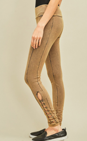 ALEXA ACID WASH LEGGINGS