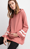 SARAH ATHLETIC HOODIE PULLOVER TOP
