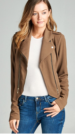 DOUBLE ZIP MOTO JACKET