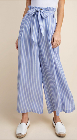 SUGAR BAG WIDE PANTS WITH WAIST BELT