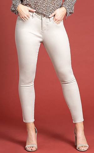 HIGH RISE ANKLE JEAN