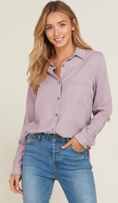 TENCEL BUTTON DOWN SHIRT