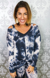 SALLY TIE DYE COLD SHOULDER