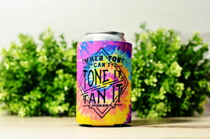 """When you can't tone it, tan it"" Drink Koozie"