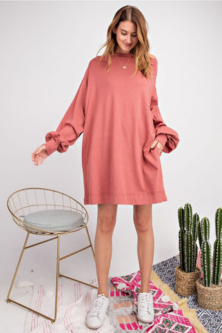 BOBBI OVERSIZED OFF THE SHOULDER DRESS