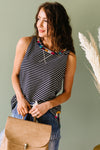 Ember Embroidered Striped Top