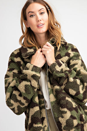 Devon Camo Teddy Jacket