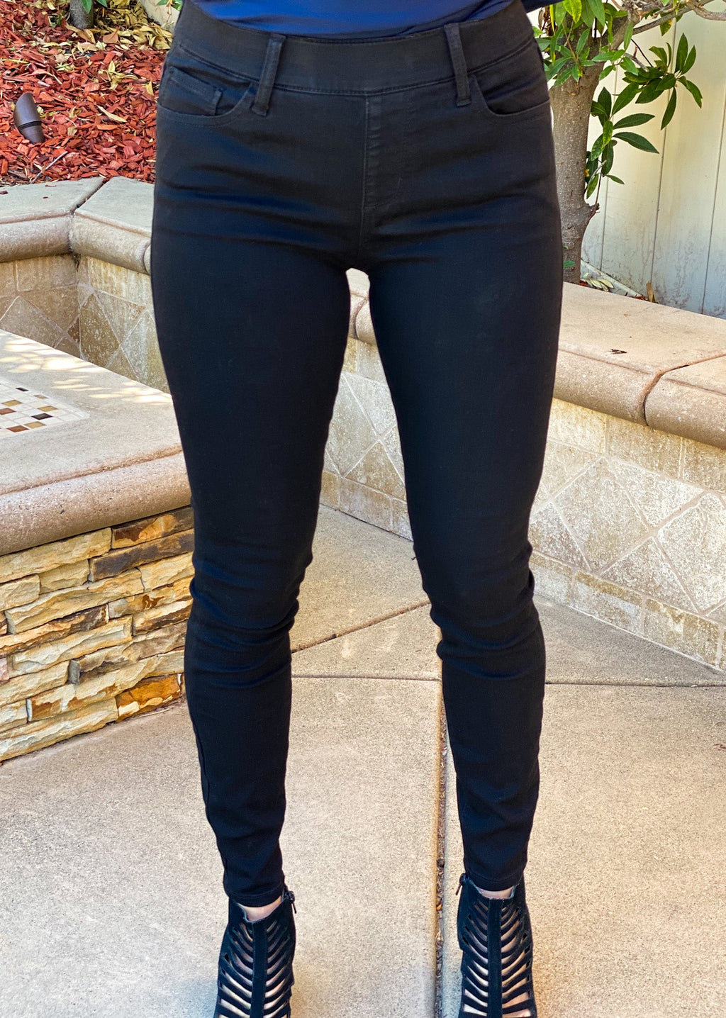 Back In Black Skinny Pull On Pants