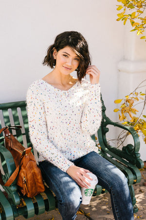 Rainbow Speckled Sweater