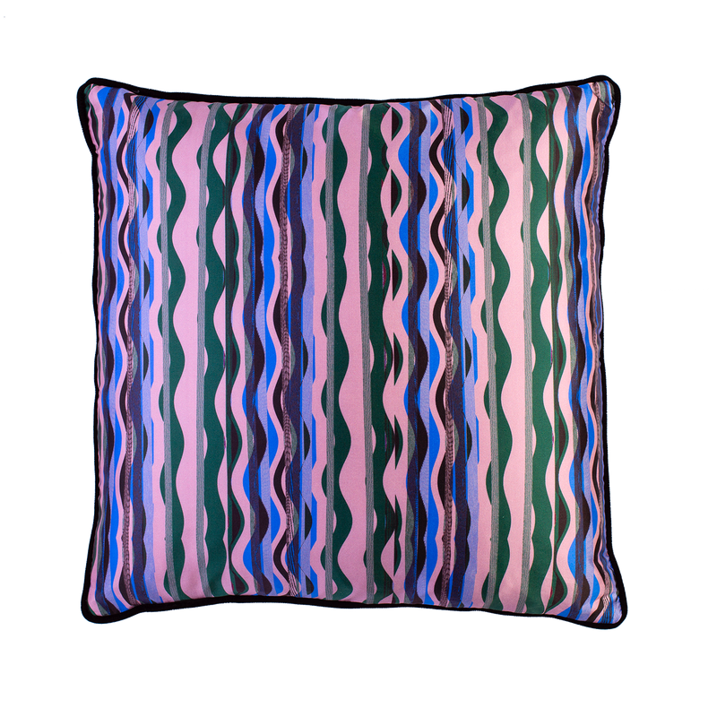Iris SIlk Cushion - Paul Marney & Co