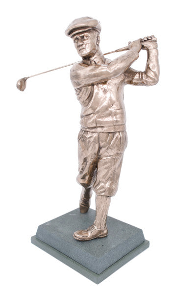 "Golf trophy portrait of Bobby Jones memorial seniors or perpetual trophy - 13""/33.5cm S61"