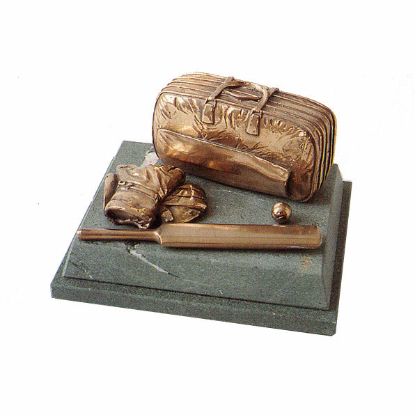 Cricket Trophy. High quality bronze on slate cricket award trophy-SC6