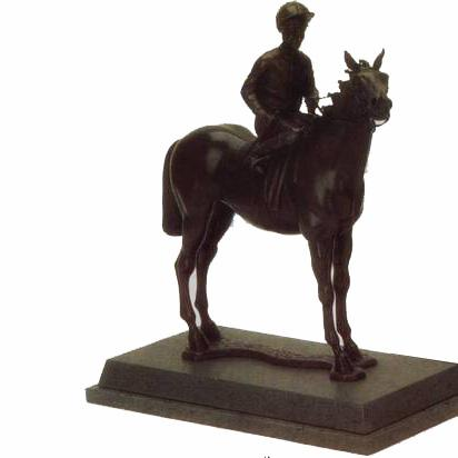 Horse - Flat Racer trophy. A top award or wonderful piece or art for a horse lover / racer-H1
