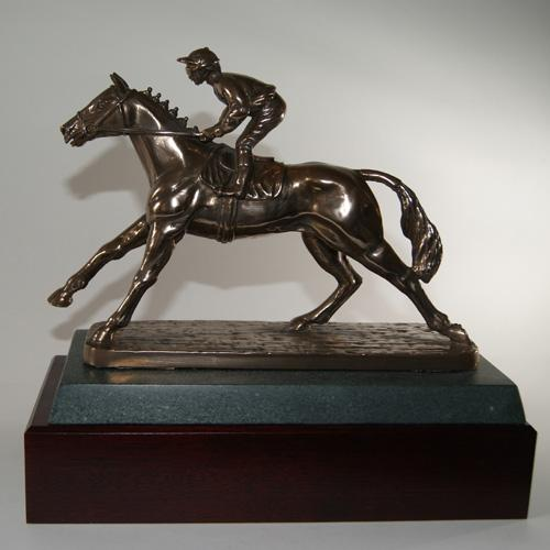 Horse - Flat Racer trophy. A 9 inch bronze horse award. Brilliant trophy or gift for a horse lover-H3