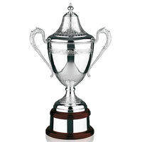 "Silver Golf Trophy The Riviera Cup with Lid 14.25""/35.5cm  -48-L100A"