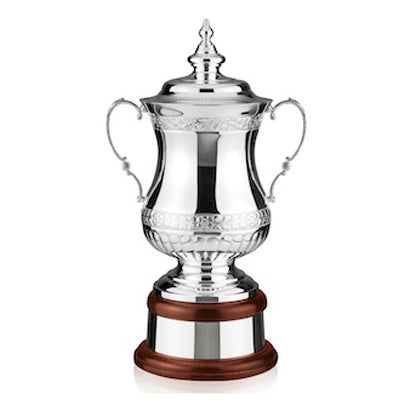"Silver Golf Trophy The Heroes Cup 18.25""/45cm -50-L567"