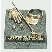 Golf trophy of Miniature Glove Visor & Putter Min7