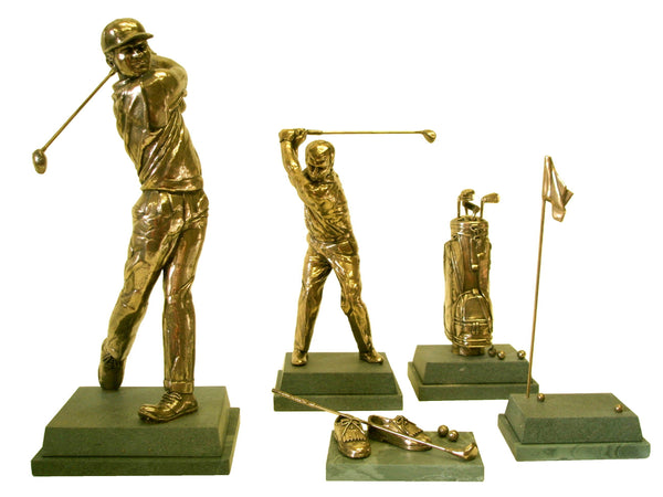 5 Golf Trophies in a Prize Package PP5