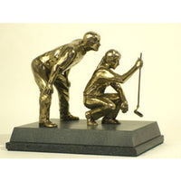 "Mixed Pairs Golf Trophy award or prize - 8.5""/22cm S101"