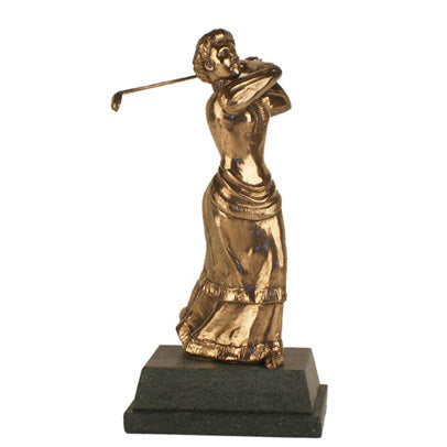 "Golf trophy of Edwardian Lady golfer 8.5""/22cm - S102"