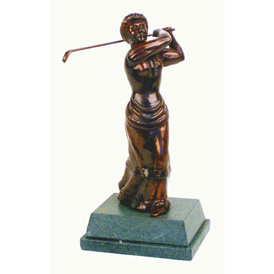 "Golf trophy of Edwardian Lady Golfer 8.5""/22cm S102p"