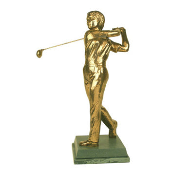 "Golf trophy of Lady golfer driving- 13""/33.5cm S108"