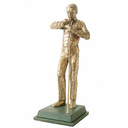 Snooker Player with Cue trophy. A great award or gift for a snooker player-S15