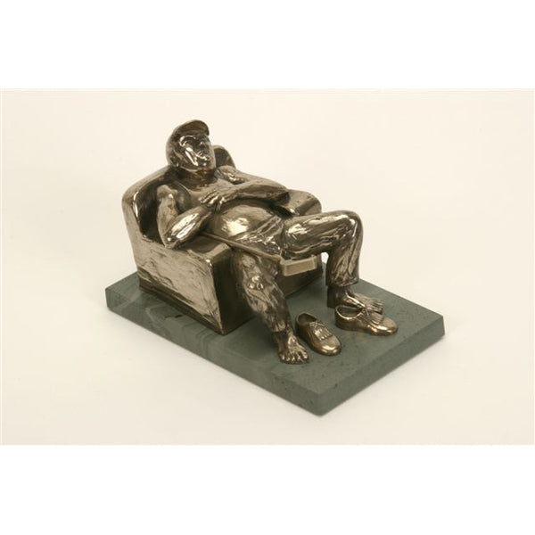 "Armchair Golfer trophy perfect for seniors, retirement gift and prize  - 7""/18cm S41c"