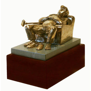 "Armchair Golfer trophy perfect for seniors, retirement gift and prize  - 7""/18cm S41cT"