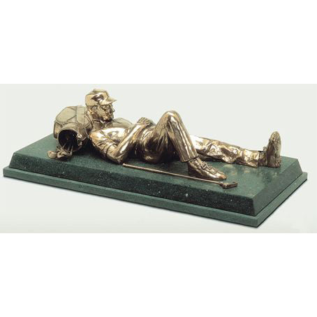 "Golf trophy of Reclining golfer for perpetual and seniors events - 15""/38.5cm S44"