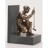 "Golf trophy of Crouching Putter prize award - 7""/18cm S56a"