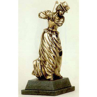 "Golf trophy of Victorian Lady golfer - 8""/20cm S59"