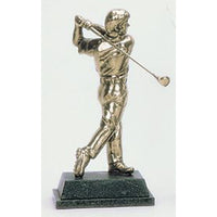 "Golf Trophy of Golfer Finishing Tee shot - 8.5""/22cm S63Seniors"