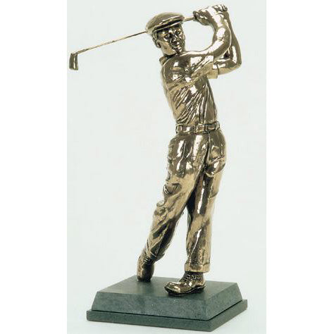 "Golf trophy portrait of Ben Hogan ideal for tournament and seniors top prize  - 13""/33.5cm S113"
